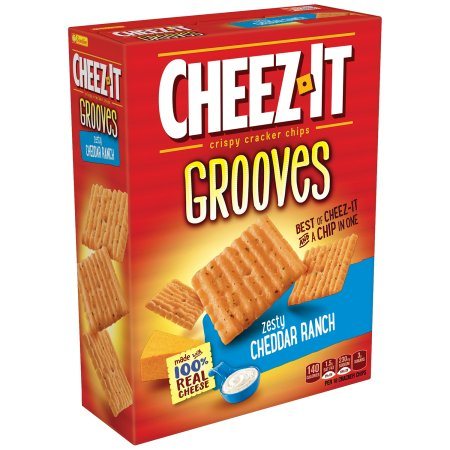 Cheez-It Grooves Zesty Cheddar Ranch Crispy Cracker Chips, 9 oz