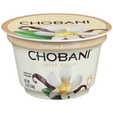 Chobani Vanilla Blended Non-Fat Greek Yogurt, 5.3 oz