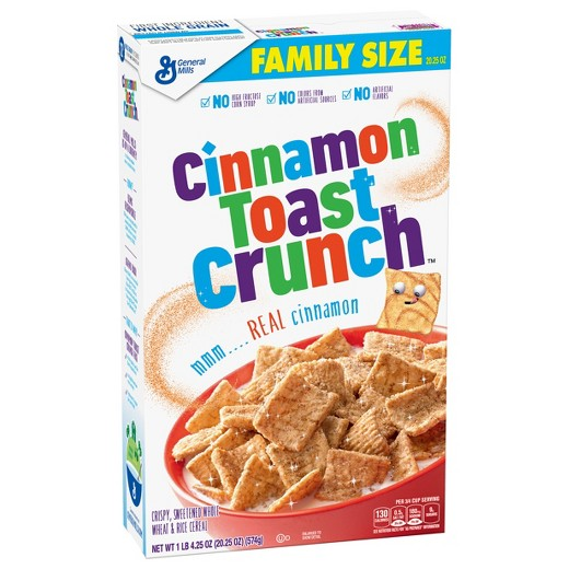 Cinnamon Toast Crunch Cereal Family Size 20.25 oz box