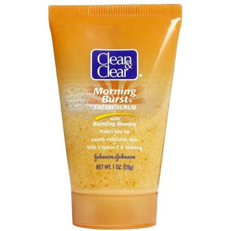 Clean & Clear Morning Burst Facial Scrub with Bursting Beads, 1 oz