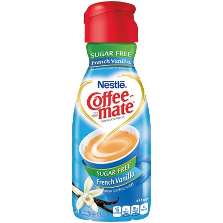 Coffeemate Sugar Free French Vanilla Liquid Coffee Creamer 32 fl. oz. Bottle