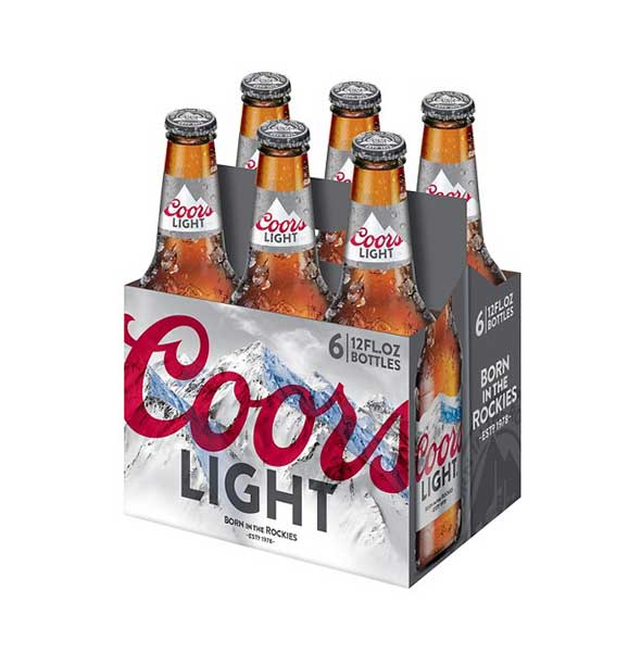 Coors Light Cold Activated Beer, 6 pack, 12 fl oz Bottles