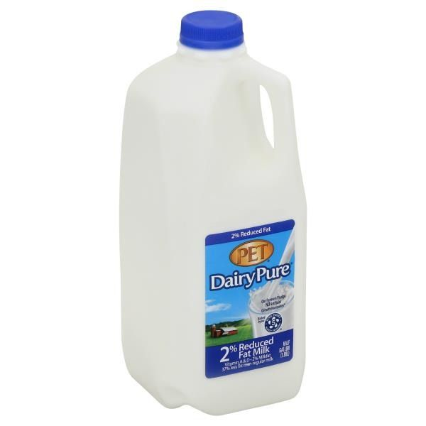 Dairy Pure 2% Milk, 0.5 gal