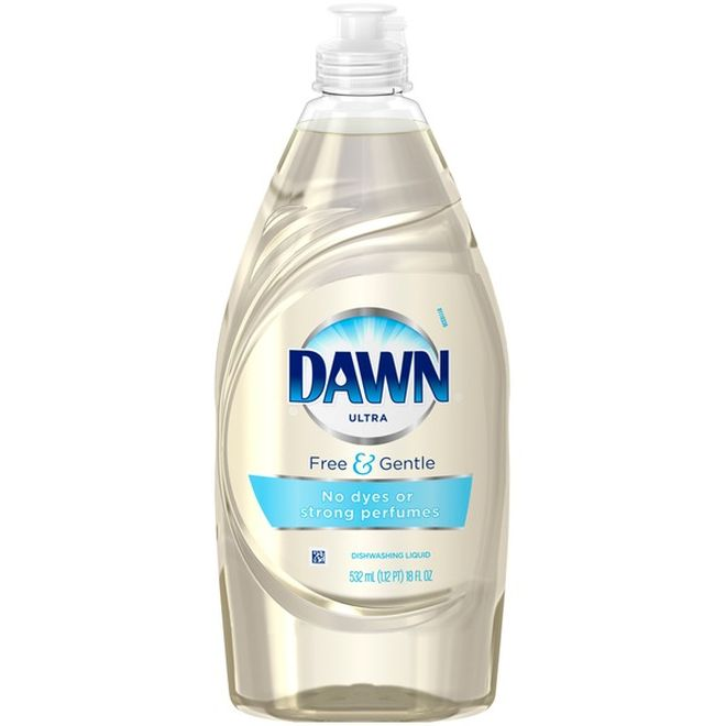 Dawn Free and Gentle Hypoallergenic Dishwashing Liquid, 21.6oz