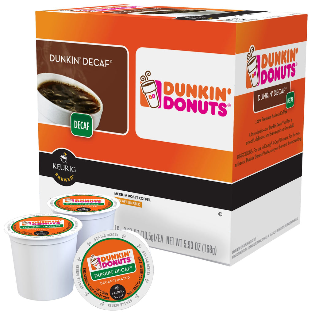 Dunkin' Donuts Dunkin' Decaf Coffee Coffee Pods, 16 pods