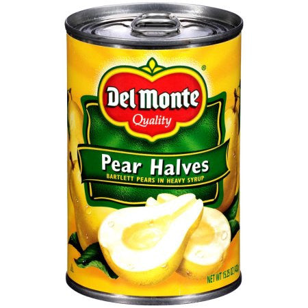 Del Monte Bartlett In Heavy Syrup Pear Halves, 15.25 oz