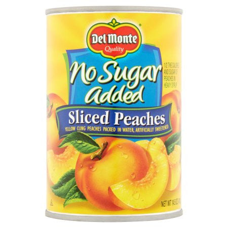 Del Monte Yellow Cling No Sugar Added Sliced Peaches, 14.5 oz