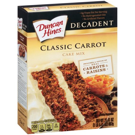Duncan Hines Decadent Classic Carrot Cake Mix, 21.41 oz