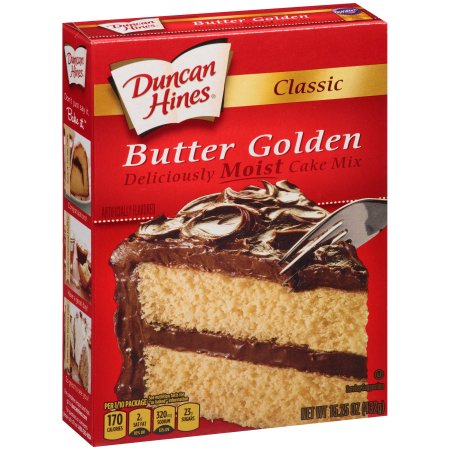 Duncan Hines Classic Butter Golden Cake Mix, 15.25 oz