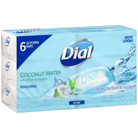 Dial® Coconut Water Glycerin Soap 4 oz. 6 Bars