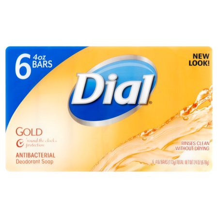 Dial Gold Antibacterial Deodorant Bar Soap, 4 oz, 6 count
