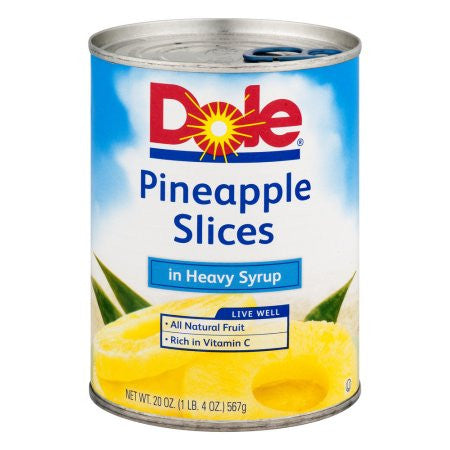 Dole Canned Fruit Slices In 100% Pineapple Juice Pineapple, 20 oz