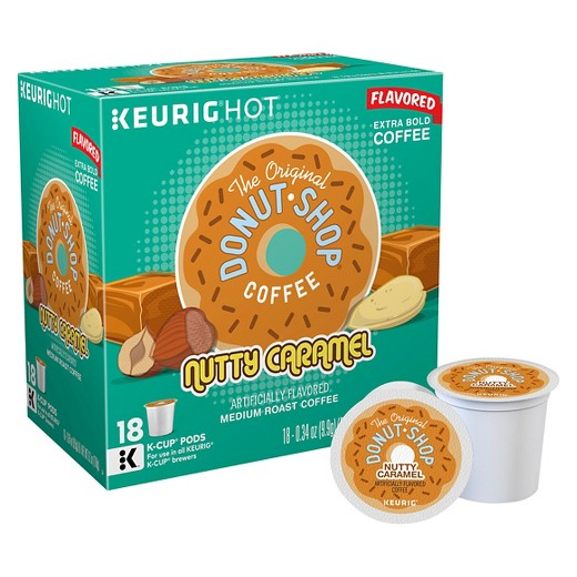 Donut Shop Coffee Nutty Caramel Coffee Pods, 18 pods