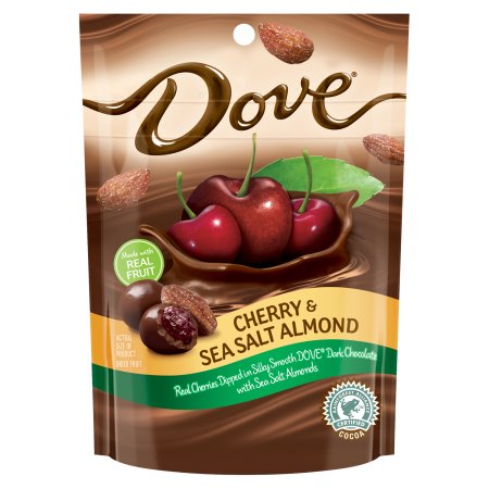 Dove Cherry & Sea Salt Almond in Dark Chocolate Candies, 5.5 oz