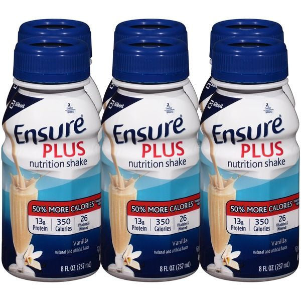 Ensure Homemade Vanilla Plus Balanced Nutrition Shake, 6 Ct/48 Fl Oz