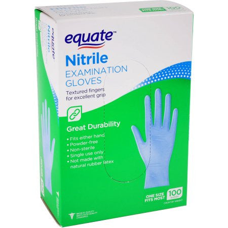 Equate Nitrile Gloves, 40ct