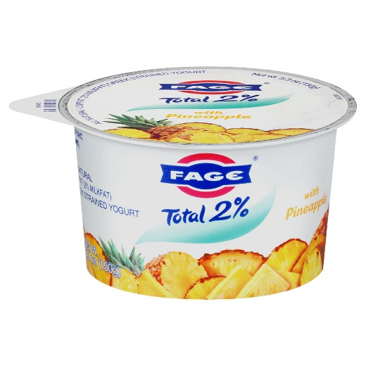 Fage Total 2% Lowfat Greek Strained Yogurt with Pineapple, 5.3 oz
