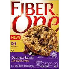 Fiber One Oatmeal Raisin Soft-Baked Cookies, 1.1 oz, 6 count