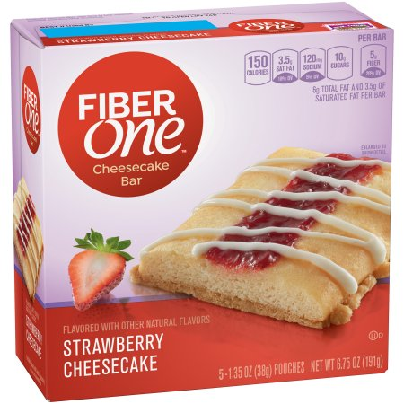 Fiber One Cheesecake Bar Strawberry 5 - 1.35 oz Bars