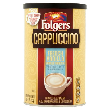 Folgers French Vanilla Cappuccino Coffee Mix, 16 oz