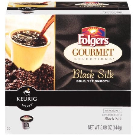 Folgers Black Silk Coffee Pods, 36 pods