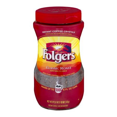 Folgers Classic Roast Instant Coffee, 12 oz