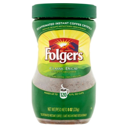 Folgers Classic Decaf Instant Coffee, 8 Oz