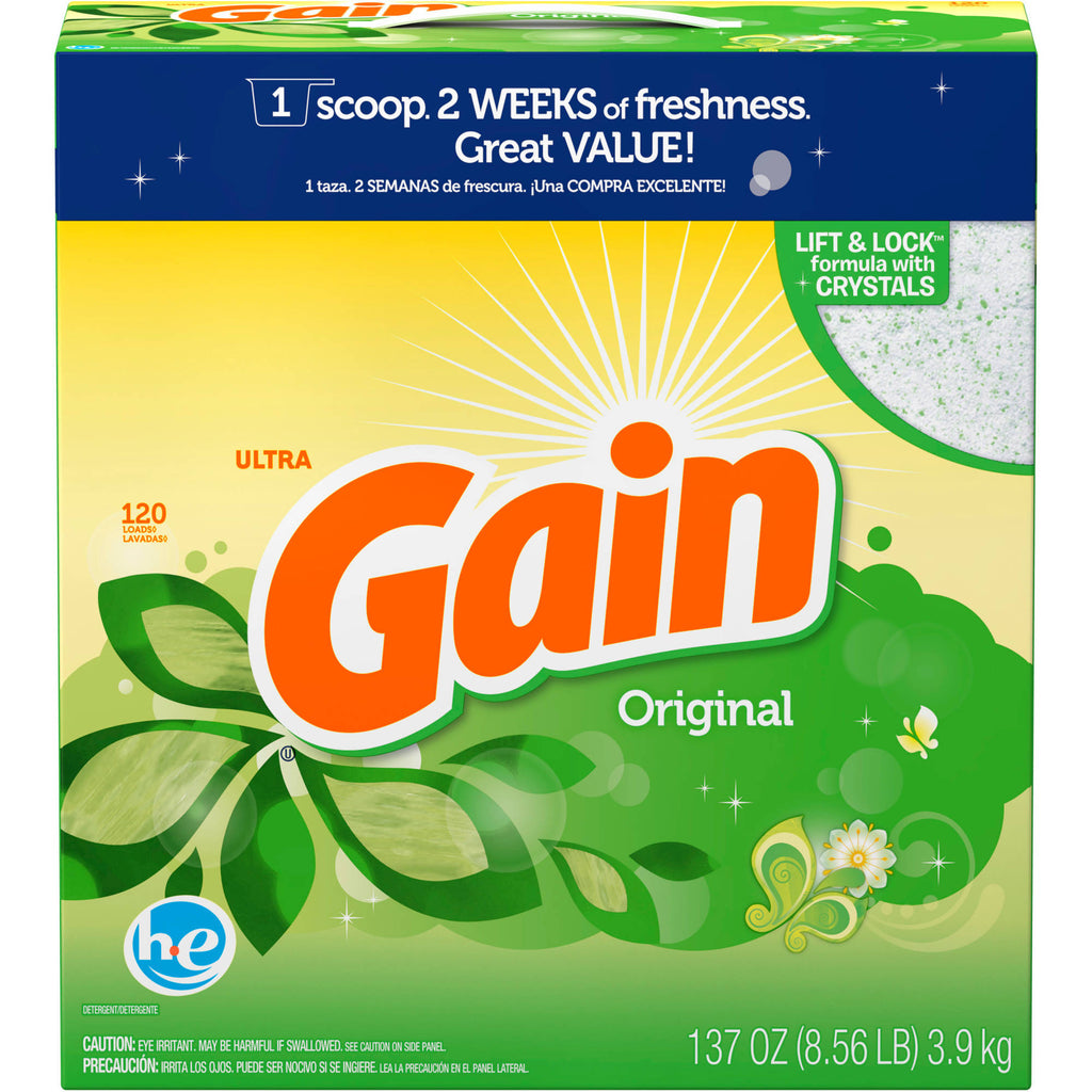 Gain Ultra With FreshLock Original Powder Detergent 120 Loads 137 Oz