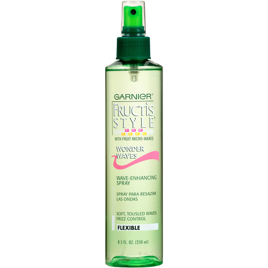 Garnier Fructis Style Wonder Waves W/Fruit Micro-Waxes Flexible Hold Wave-Enhancing Spray, 8.5 fl oz