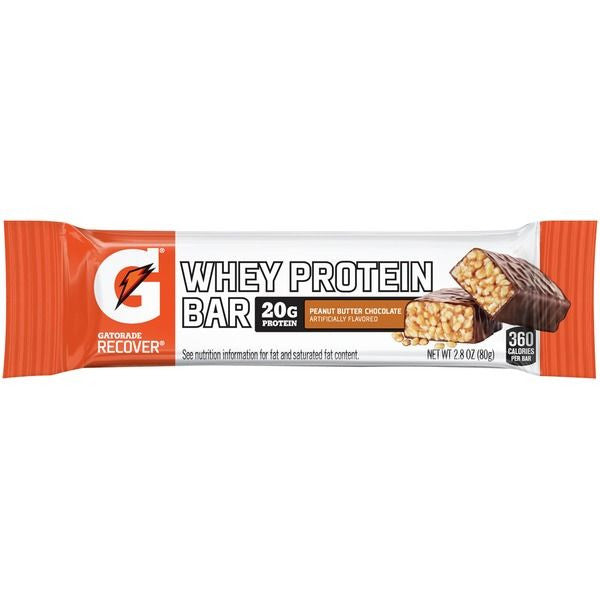 Gatorade Recover Peanut Butter Chocolate Whey Protein Bar 2.8 oz