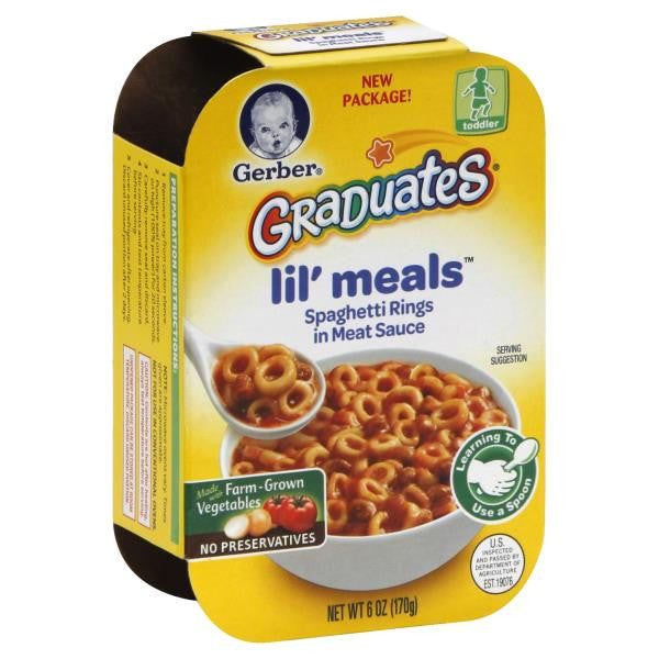 Gerber Graduates Lil Meals Spaghetti Rings in Meat Sauce, 6 oz