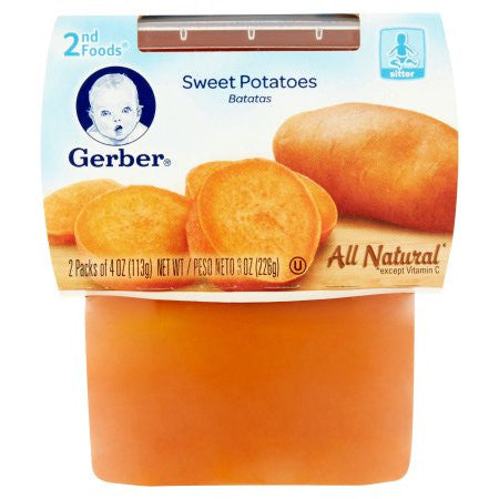 Gerber 2nd Foods Sweet Potatoes Baby Food, 4 oz, 2 ct