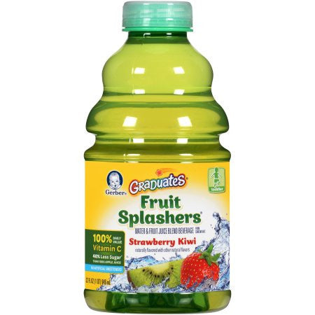 Gerber Graduates Fruit Splashers Strawberry Kiwi, 32 oz
