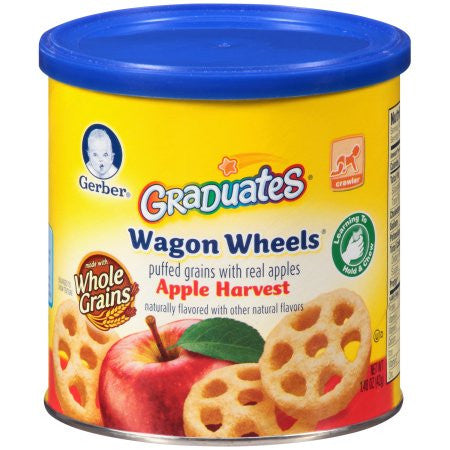 Gerber Graduates Finger FoodsApple Wagon Wheels, 1.48 oz