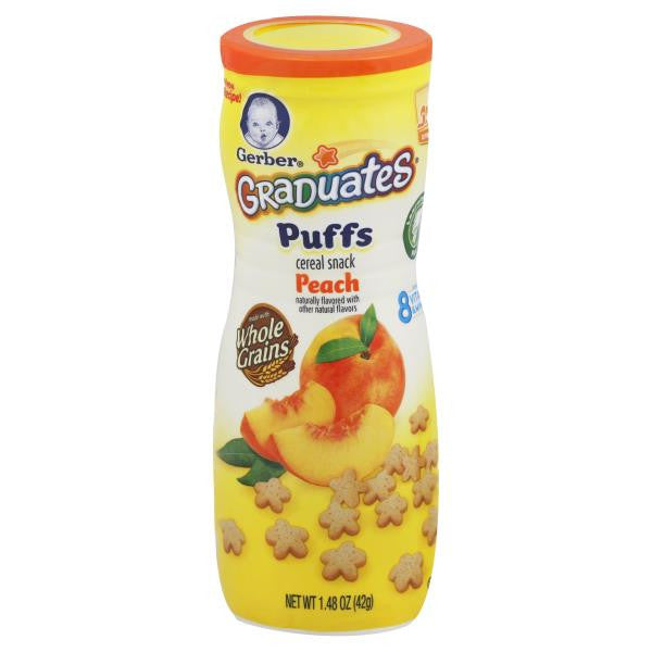 Gerber Graduates Finger Foods Peach Puffs, 1.48 oz