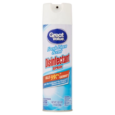 Great Value Fresh Linen Scent Disinfectant Spray, 19 oz