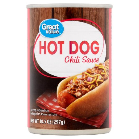Great Value Hot Dog Chili Sauce, 10.5 oz