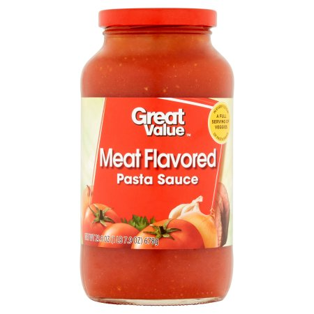 Great Value Meat Flavored Pasta Sauce, 23.9 oz