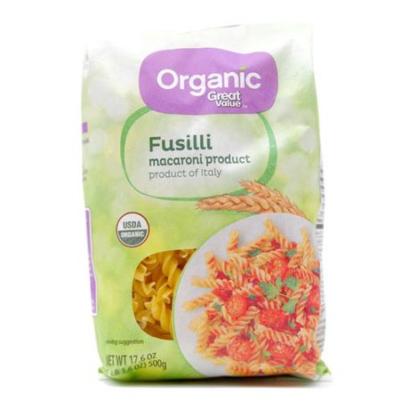 Great Value Organic Fusilli, 17.6 Oz.
