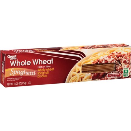 Great Value Whole Wheat Spaghetti, 16 oz