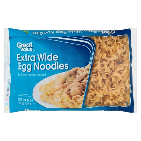 Great Value Wide Egg Noodles, 16 oz