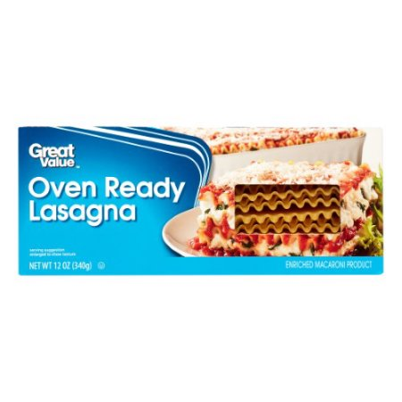 Great Value Oven Ready Lasagna, 12 Oz