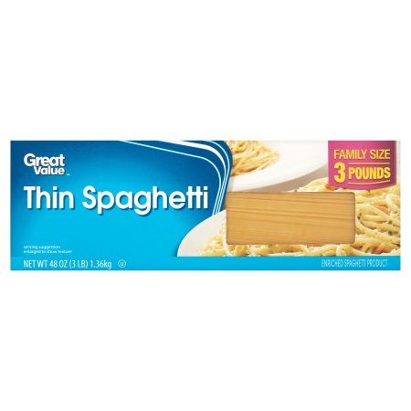 Great Value Spaghetti Pasta, 48 oz 3lb