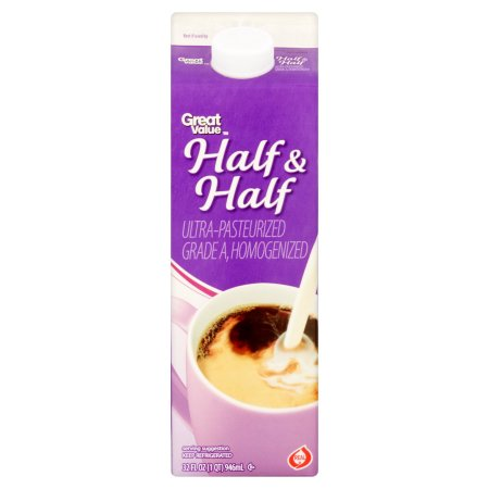Great Value Half & Half Milk, 32 fl oz