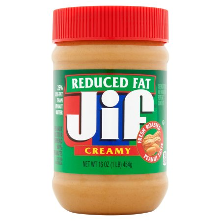 Jif Reduced Fat Creamy Peanut Butter, 16 oz