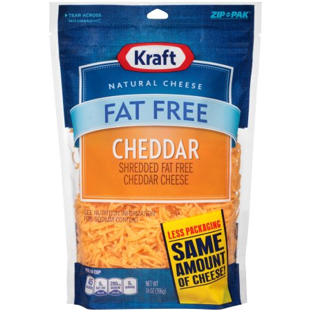 Kraft Shredded Fat Free Cheddar Cheese 14 oz.