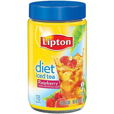 Lipton Diet Raspberry Iced Tea Mix, 2.6 oz