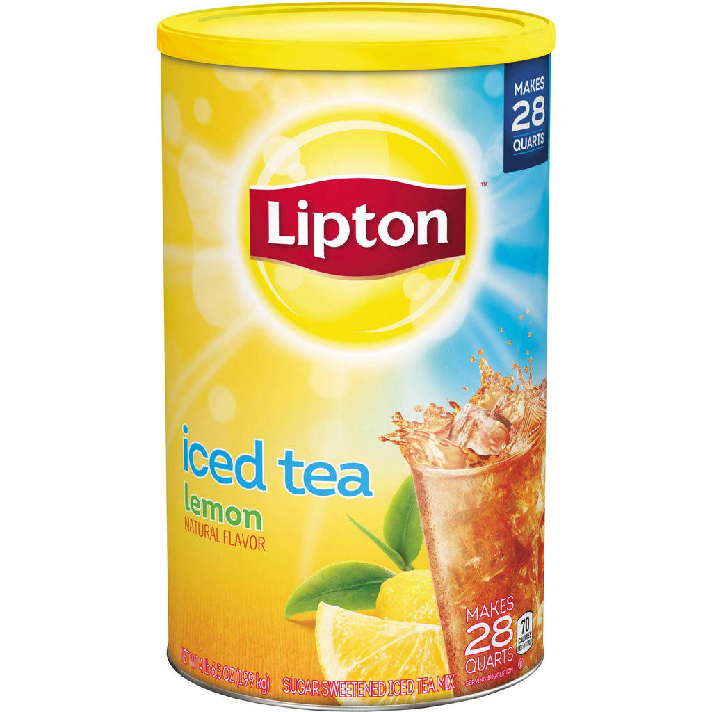 Lipton Lemon Sugar Sweetened Iced Tea Mix, 74.2 oz