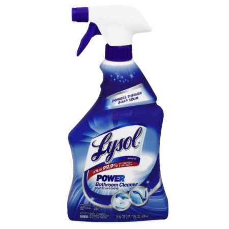 Lysol Power Bathroom Cleaner Spray, 28 Ounce