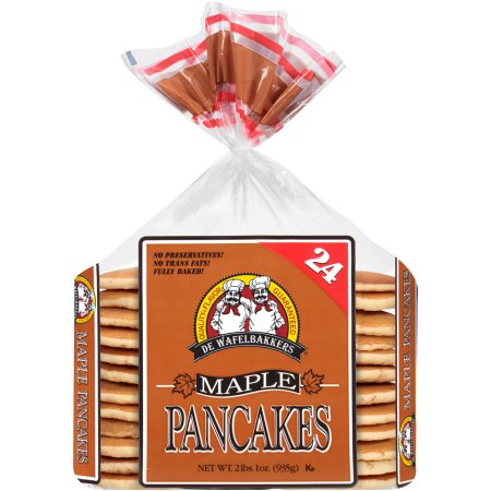 De Wafelbakkers Frozen Maple Pancakes, 24 ct, 2 lbs. 1 oz